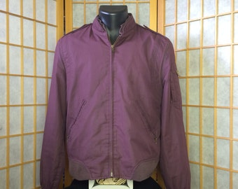 Vintage 1990's Jordache Members Only Style Plum Jacket S