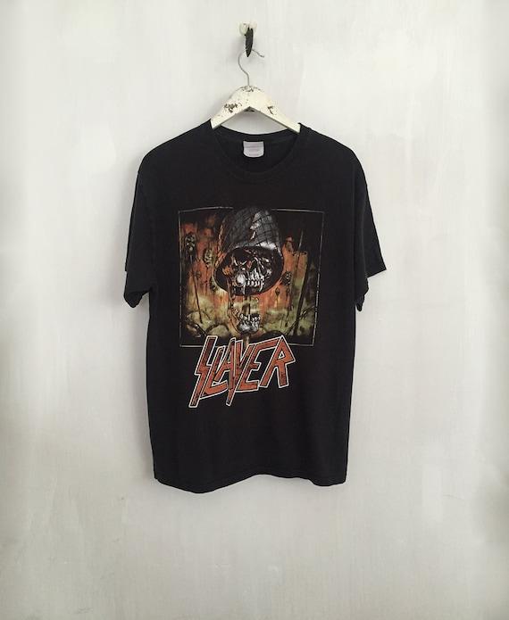 Slayer Shirt 90s Vintage T Shirt Band T Shirts Rock Tshirt