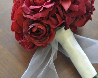 Red Wedding Bouquet.  Sale!