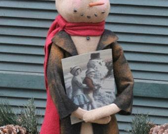 """Primitive Snowman PATTERN """"Coalman the Snowman"""""""