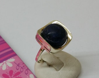 333 white gold ring Sodalite elegant 18.1 GR139