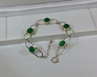 Nostalgic, old bracelet silver 835 jade SA274