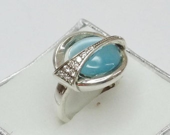 Ring Silver 925 Silver ring chalcedony CABOCHON SR155