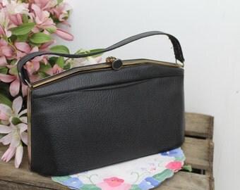 Vintage, 1950's Handbag/Box Bag/Vintage Pocket Book/1950's Reenactment Handbag/SALE (1877B)