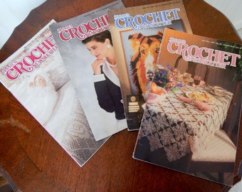 Vintage Annie's Crochet Pattern Books From 1991, Crochet Magazines, Crochet Patterns