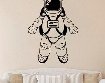 Spaceman Wall Decal Astronaut Vinyl Sticker Nursery Vinyl Decals Wall Vinyl Decor /8iwg/