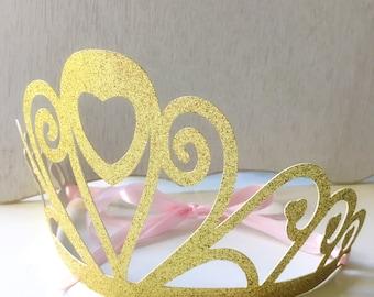 Princess Crown, Princess Birthday Party Decoration, Crown Party Favors, Large Gold Princess Crown for girls, Disney Princess Party, Tiara