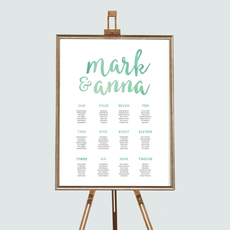 Garden wedding seating chart, Wedding seating chart printable, Printable seating chart, Wedding reception decor, Wedding decor, Seating plan