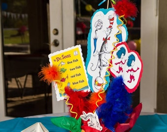 Dr Seuss centerpiece- we can do any theme!