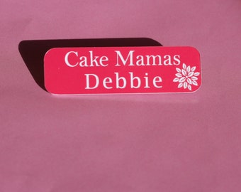 Not Becky Name Badge engraved on Acrylic / Name badges / Fancy Dress Costume Badge