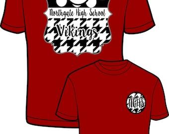 High School   Spirit Monogrammed Comfort Color Tshirt, Tank, Long Sleeve T & Sweatshirt