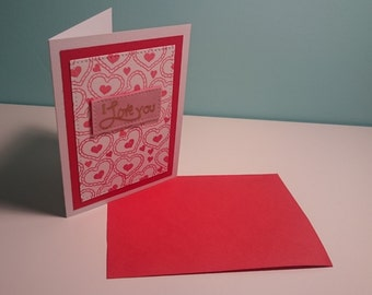 Hearts and Love - card