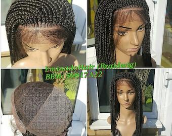 Braided Wig, wholelace/full lace unit, Medium Braids. Brown colour. 20-22 inches. Braidwig, Braidswig