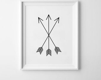 Black Indian Arrows Art Printable | Baby girl art, Baby boy art, Baby print, Nursery print, Baby shower gifts, Baby shower, Floral nursery