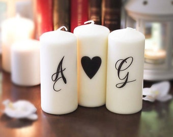 set candles with initials
