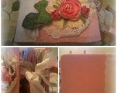 Cute Roses Floral Coin Envelope Style Scrapbook Mini Album