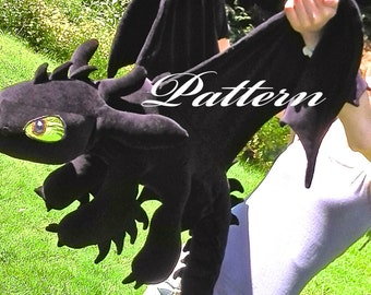 Giant Toothless plush pattern PDF ~ How to train your dragon
