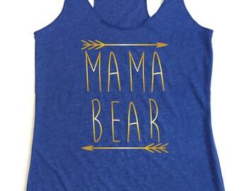 Mama Bear. Maternity Shirt. Gold Letters. Mommy to be shirt. Future mommy shirt. Mom life shirt. Mama Bear Tank Top.