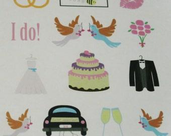 Wedding Themed Stickers