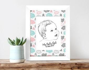Custom baby portrait - PREMIUM VERSION
