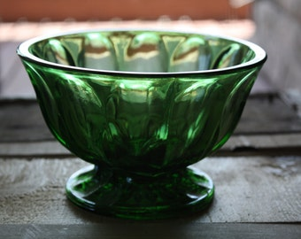 Green Anchor Hocking Candy Dish
