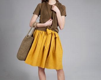 Linen flax cotton Scarf / Knitted linen cotton scarf / Natural Flax Scarf / women pure linen cotton shawl / linen scarves /linen accessories
