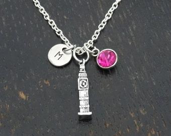 Big Ben Necklace, Big Ben Charm, Big Ben Pendant, Big Ben Jewelry, Big Ben Clock Necklace, London Necklace, London Jewelry, England Necklace