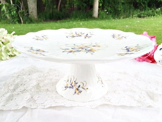 Aynsley Just Orchids Cake Stand