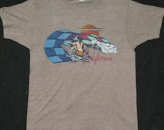 vintage 80s screen stars california 50/50 t-shirt 20x26.5