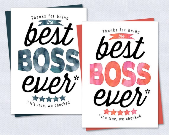 Boss Card Thanks for being the best boss ever by ...