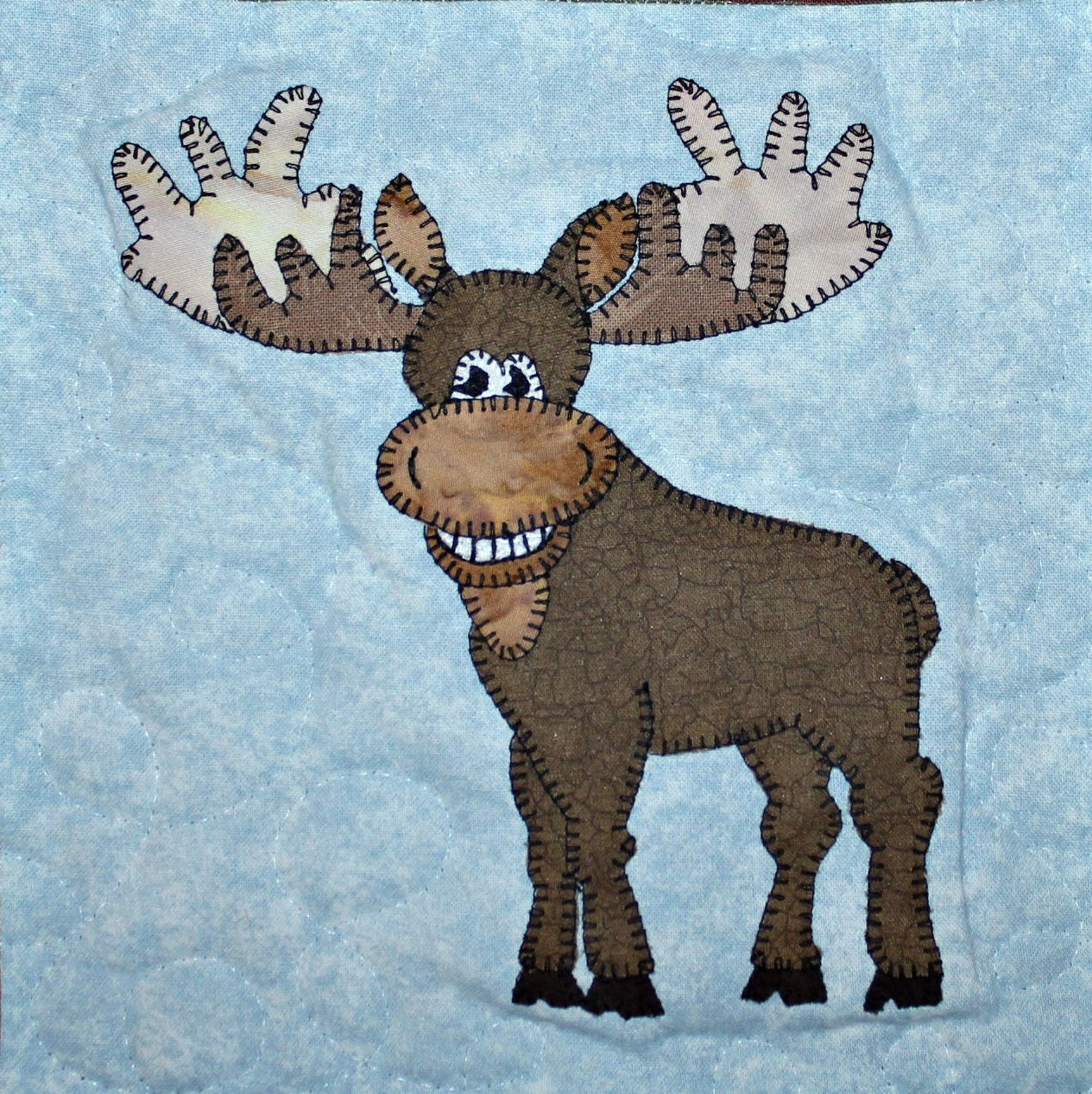 Moose Pdf Applique Quilt Block Pattern North American Forest