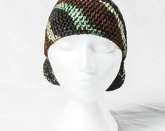 Camouflage Crochet Cap