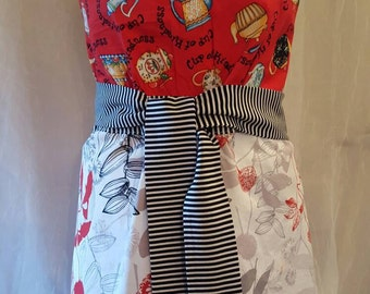 """ON SALE NOW.  New, Grooves line, """"Soda Fountain"""" cooking apron"""