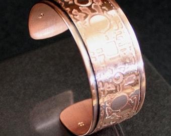 Copper Bracelet, Irish Bracelet, Steampunk Jewelry, Steampunk Bracelet, Celtic Bracelet,Copper cuff, Irish Jewelry, Irish Gift,