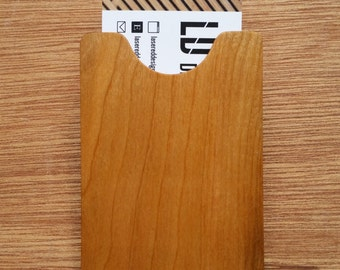 Cherry & Maple Wood Business Card Holder
