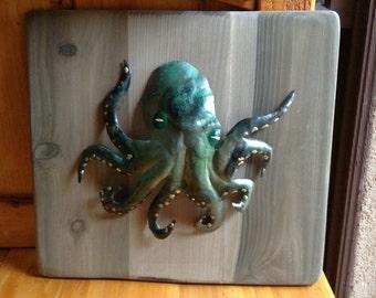 Hawaiian art//Octopus wall art // octopus metal sculpture wall art // Octopus wall hanging // Octopus Art //