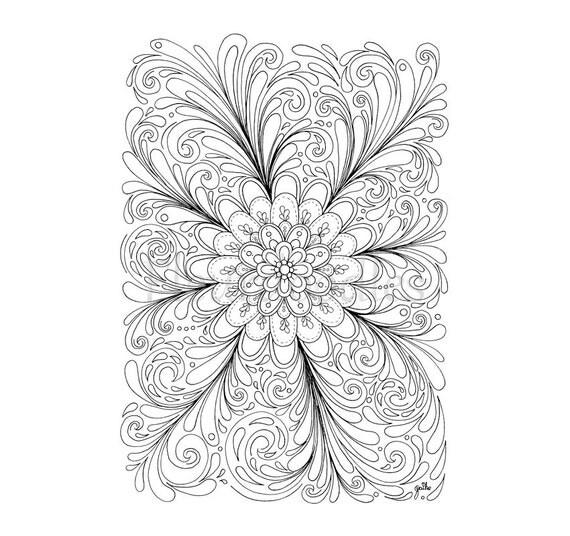 florales bild zum ausmalen blumen illusion of a flower