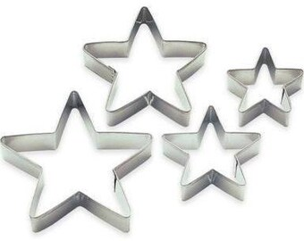 Christmas Holiday Star (Wilton) Cookie Cutter Set 4pc.