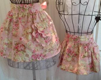 Mother & Daughter Aprons tutu for tea  - Custom Select Fabric