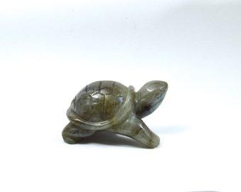 labradorite , solid  labradorite turtle, sculpture , tortoise sculpture, carving