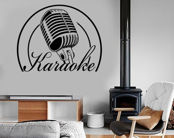 Wall Vinyl Music Sing Singing Karaoke Guaranteed Quality Decal Mural Art 1521dz