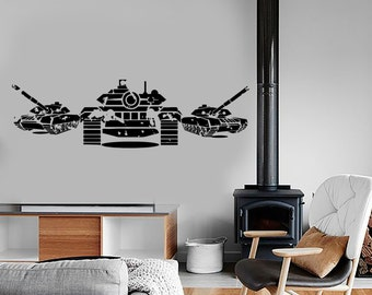Wall Vinyl Tanks Army War Military Forces Guaranteed Quality Decal Mural Art 1645dz