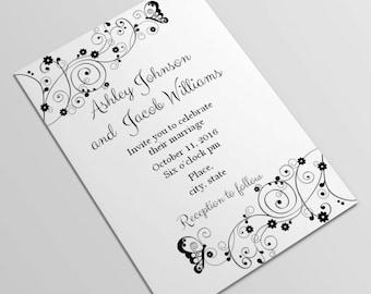 Diy wedding invitation Printable wedding invitations Instant download invitation Wedding invitation template Invitation printable