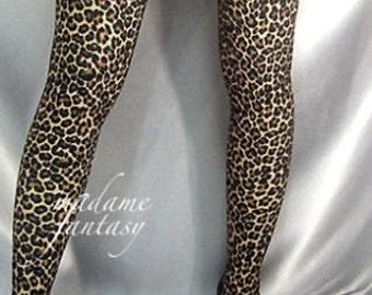 Spandex stockings Leopard Print