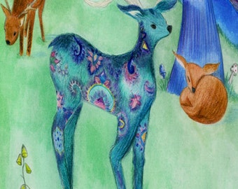 out of this world patterned deer