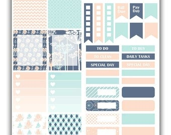 Floral weekly stickers kit | Themed weekly kit | Erin Condren vertical theme weekly kit | Weekly planner stickers