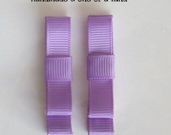 Lavender Hair Clips for Girls Toddler Barrette Kids Hair Accessories Grosgrain Ribbon No Slip Grip