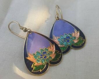 GIANT SALE Sweetheart Cloisonné Earrings