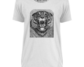 Mintage Roaring Tiger  Mens Scoop Neck T-Shirt