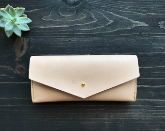 SALE 10% OFF!! Leather Envelope Clutch, Leather Envelope Long Wallet, Leather Envelope Purse, Womens Purse, Long Wallet, Women Wallet